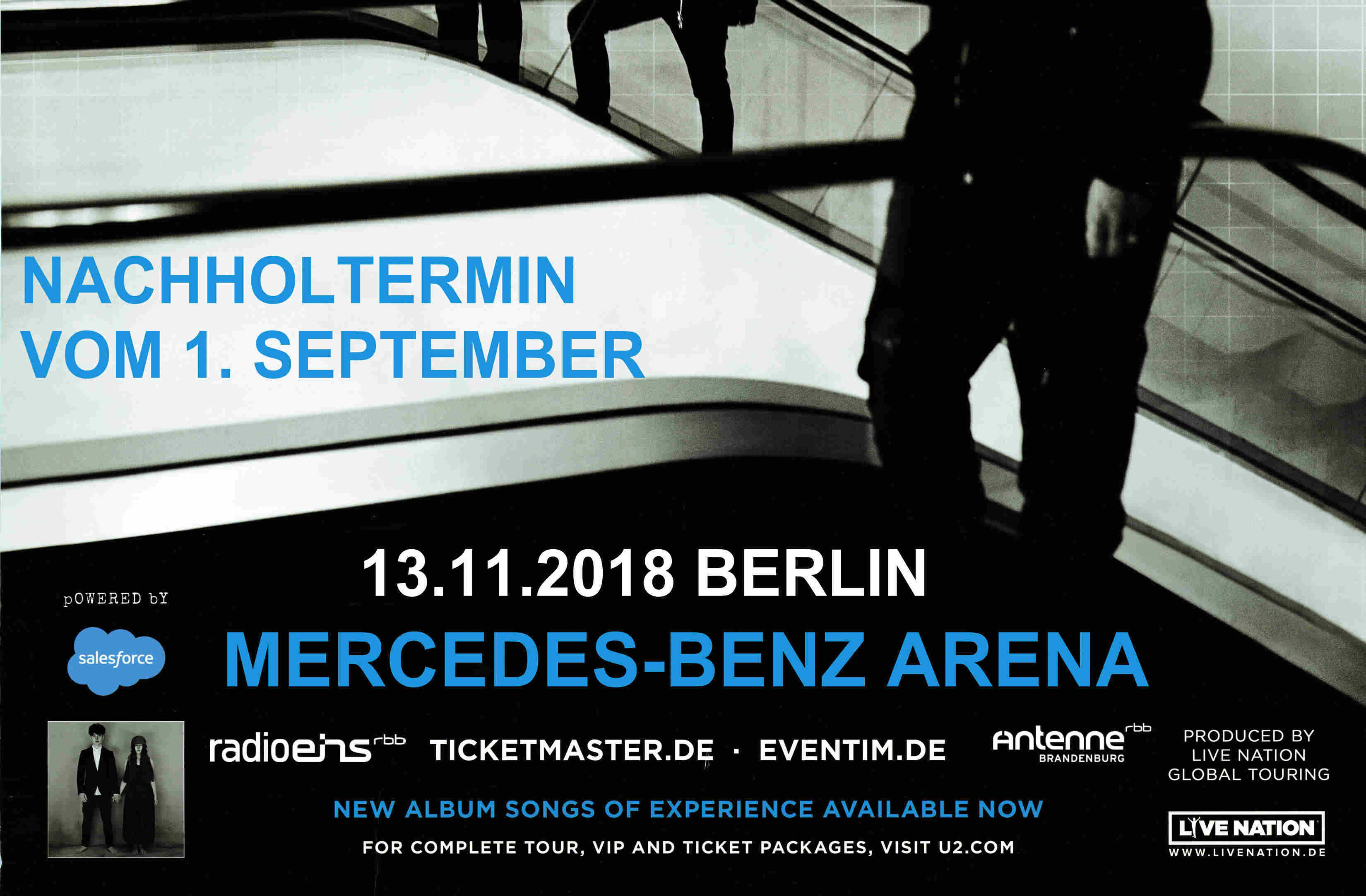 U2 News Berlin Konzert Am 13 November Wird Gefilmt U2tourde